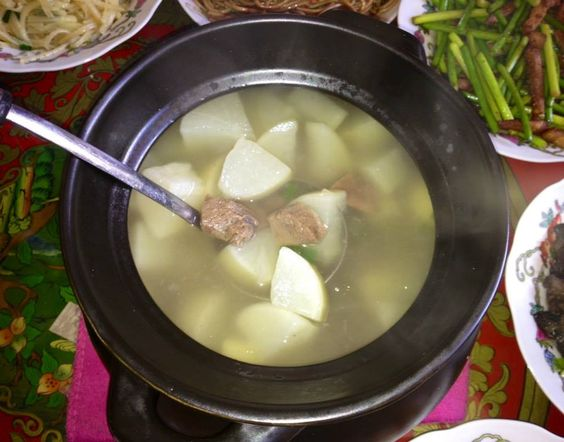 ... restorative, something like lapuk gortsö, white radish (daikon) soup