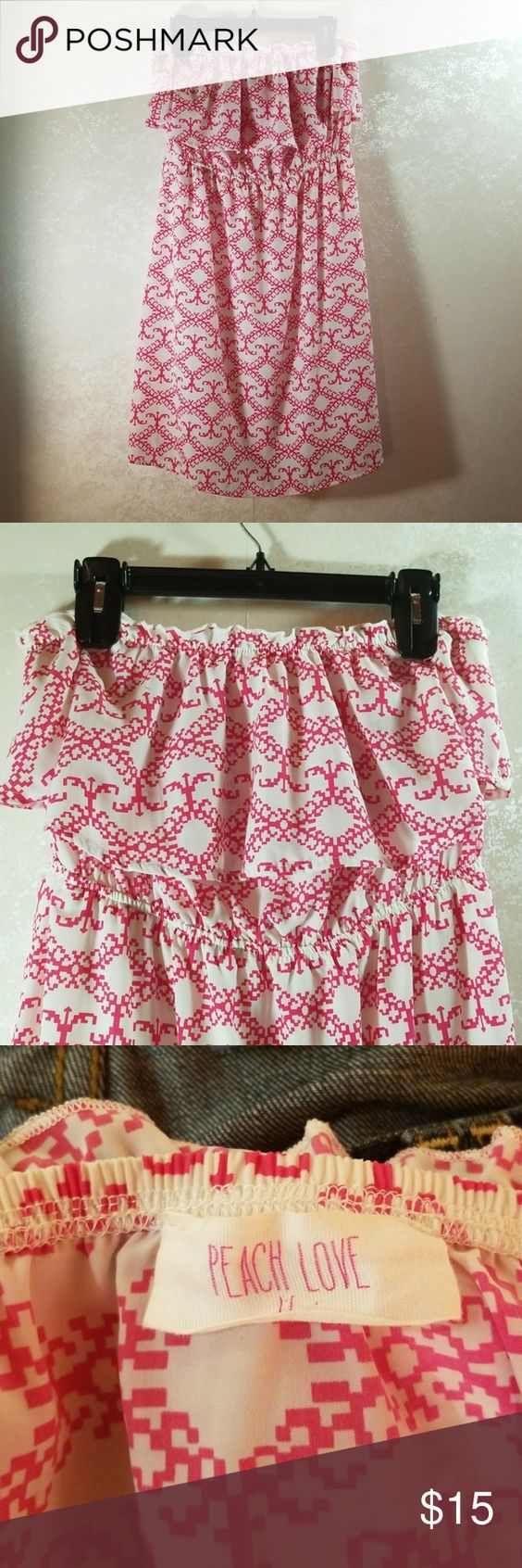 Fresh Peach Summer Dress