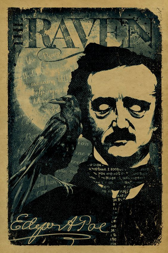 The Raven by Edgar A Poe poster. 12x18. Kraft by UncleGertrudes