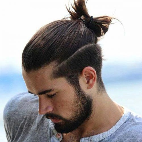 Crazy Long Tied Up Hair Long Hairstyles For Men Man Bun Hairstyles Hair Styles Man Ponytail