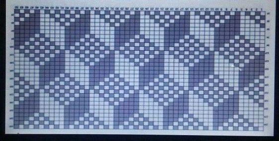 Tapete de croche 3d grafico