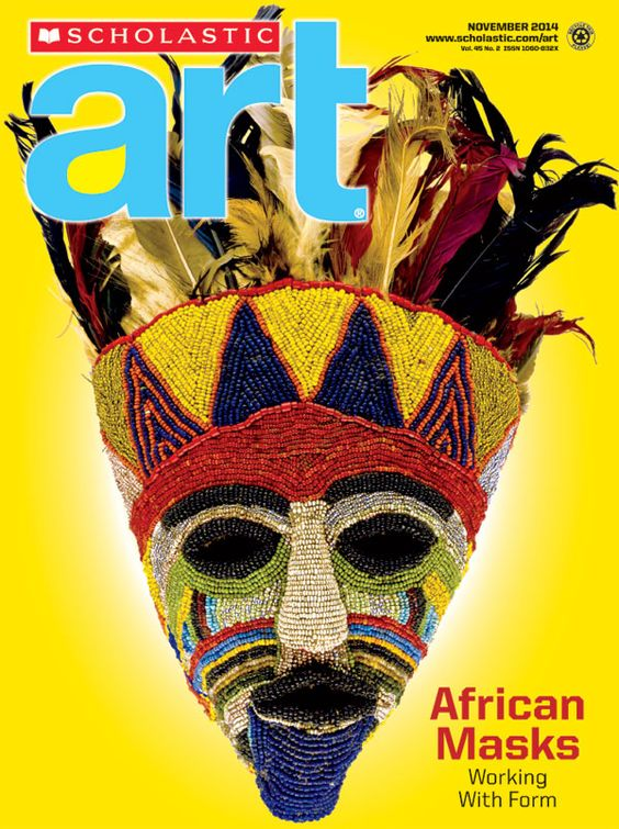 African #Masks - Working With Form. #ScholasticArt