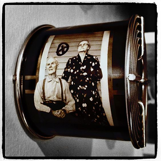"""""""Rol & Mary Contact""""...© Roger Minick 2012...     http://idiarist.com/    Contact strip of my grandparents taken in 1964, displayed on old retired developing reel…"""