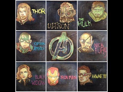 The Avengers Pancakes - YouTube