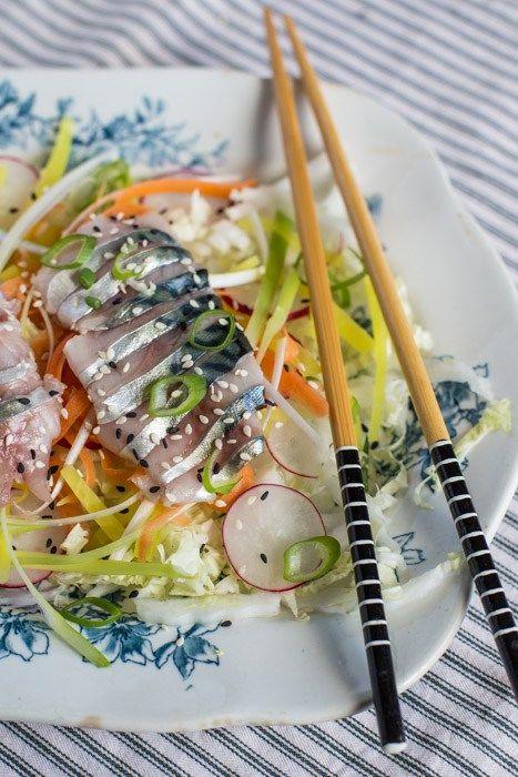 Mackerel Sashimi Salad | The Hedgecombers
