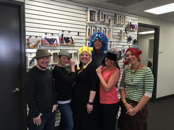Part of the Tantus Team on Silly Hat Day. I spy Sales, Marketing, Graphics, a Customer Support Ninja and Pirate, and a CEO..