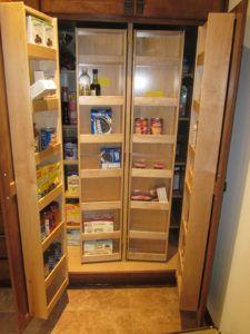 Double Door Kitchen Pantry Cabinet