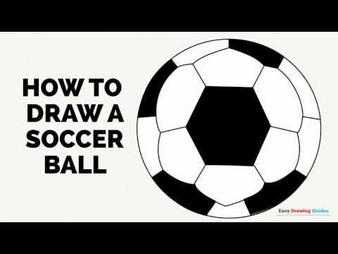 How To Draw A Soccer Ball Easy Drawing Guides Drawing Tutorial Easy Soccer Ball Easy Drawings