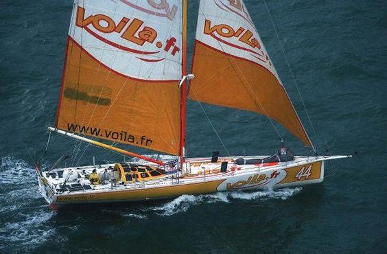 Bernard Gallay in action in 2000 Vendée Globe