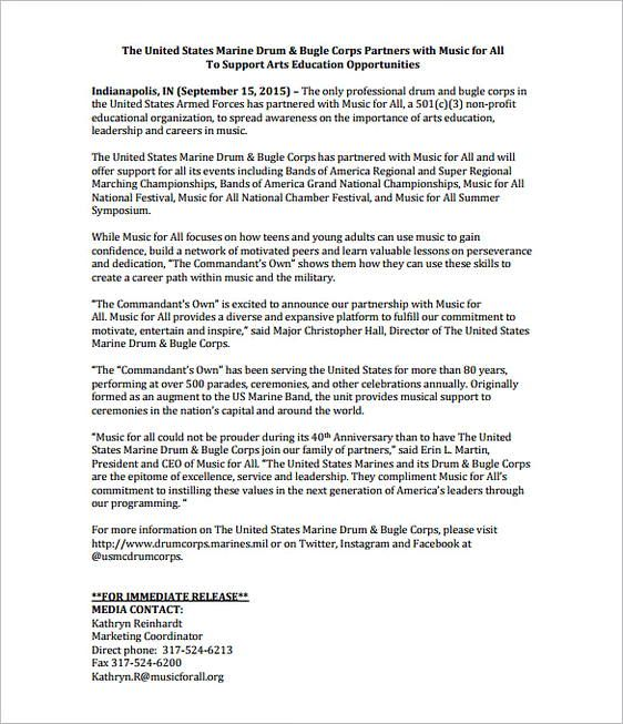 50 Best Press Release Format Templates Press Release