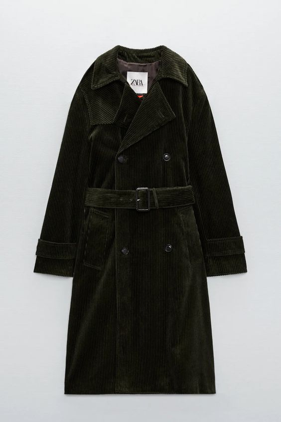 CHARLOTTE GAINSBOURG COLLECTION CORDUROY TRENCH COAT Zara