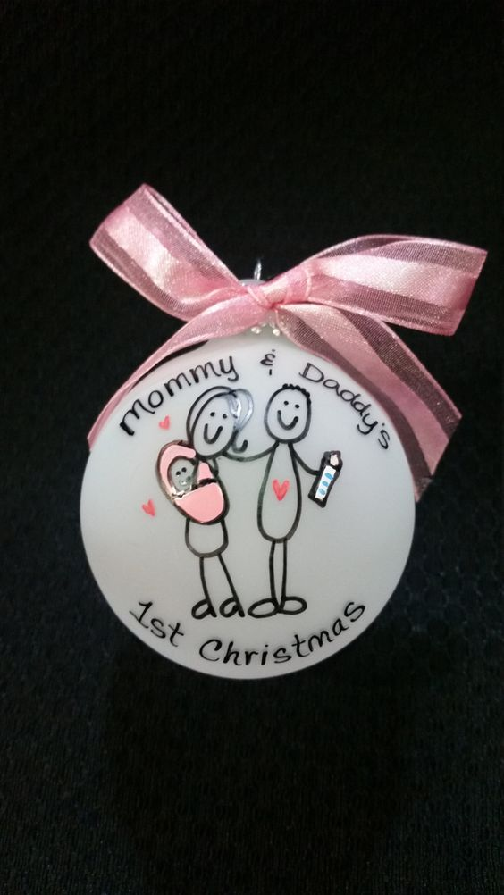 christmas ornament, first christmas, mommy and daddy, 1st christmas, baby 1st christmas, family ornament, christmas ornament for family,baby by Wurksfromtheheart on Etsy