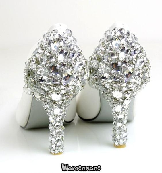 Shine Luxurious Crystal's Wedding Bridals Diamond High Heels