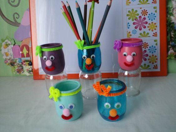 Des petits pots crayons rigolos bricolage pinterest rigolo activit s enfants et - Activites manuelles petit ...