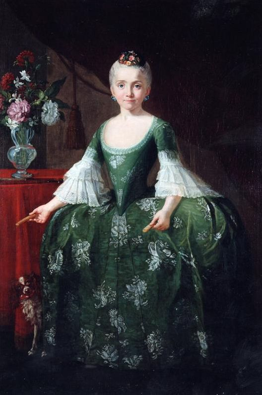 Infanta Maria Luisa de Bourbon with a vase of flowers by Giusseppe Bonito (Galeria Caylus) | Grand Ladies | gogm