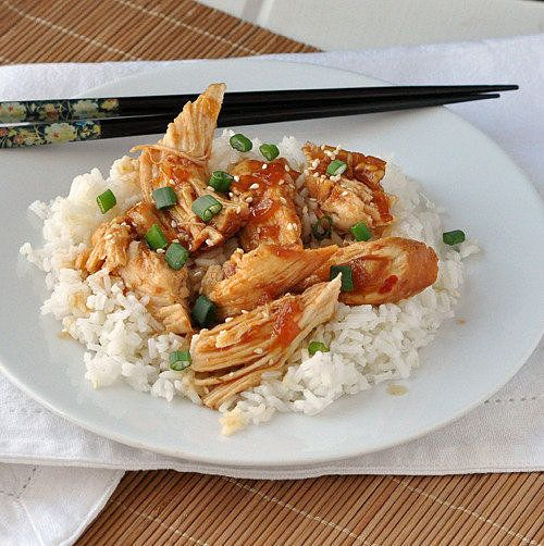 Yum! This honey sesame chicken makes a bright addition to the dinner table.  Source: The Way to His Heart