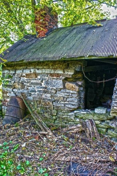 Old stone out building in upstate New York.