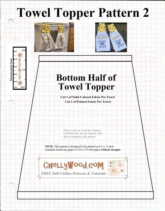 Sew A Tea Towel W Free Pattern Chellywood Com Sewing Diy
