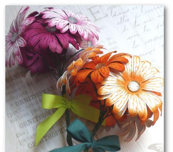 Coul'Heure Papier: Bouquet de Gerberas [Tutoriel]