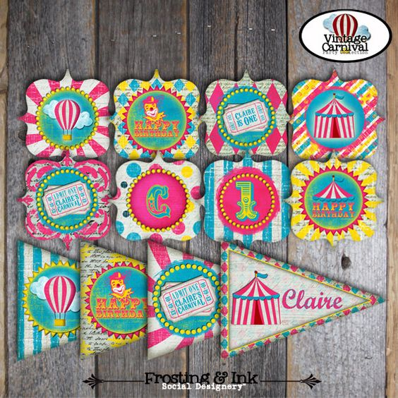 circus party favors circus carnival party party favor tags carnival ...
