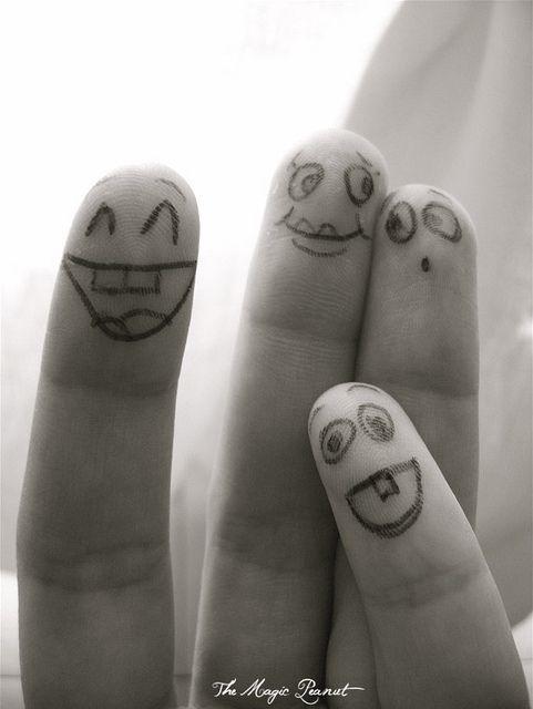 família de dedos