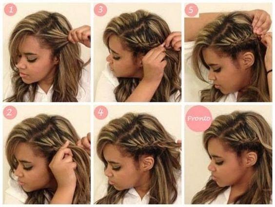 Trança Embutida Aprenda O Passo A Passo Penteados Para Cabelo Liso Penteados Cabelo Penteado