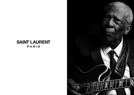 Jerry Lee Lewis, Chuck Berry & B.B. King by Hedi Slimane for Saint Laurent Music Project Fall:Winter 2013 Ad Campaigns