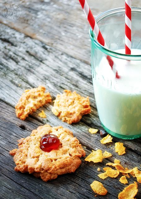 So I'm making these - but half with cornflakes and half with peanut butter and chocolate chips.