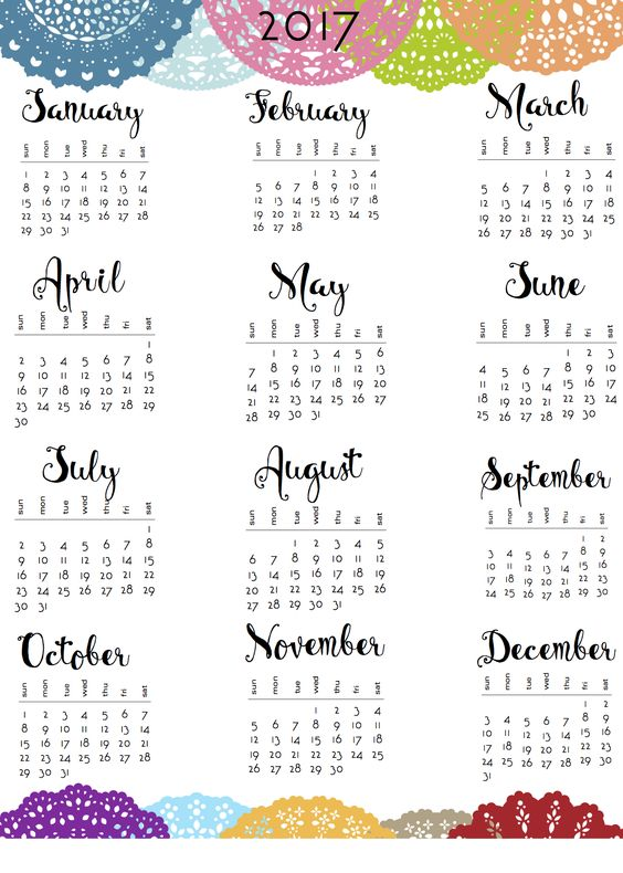 Here are the small circle calendars I posted about a while back. Finally got around to finishing them, between coats of paint. There are both coloured and B&W versions, and both 2017 and 2018 …