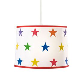 Rainbow Star Ceiling Shade - A bright and jolly pendant lightshade for a  playroom or a