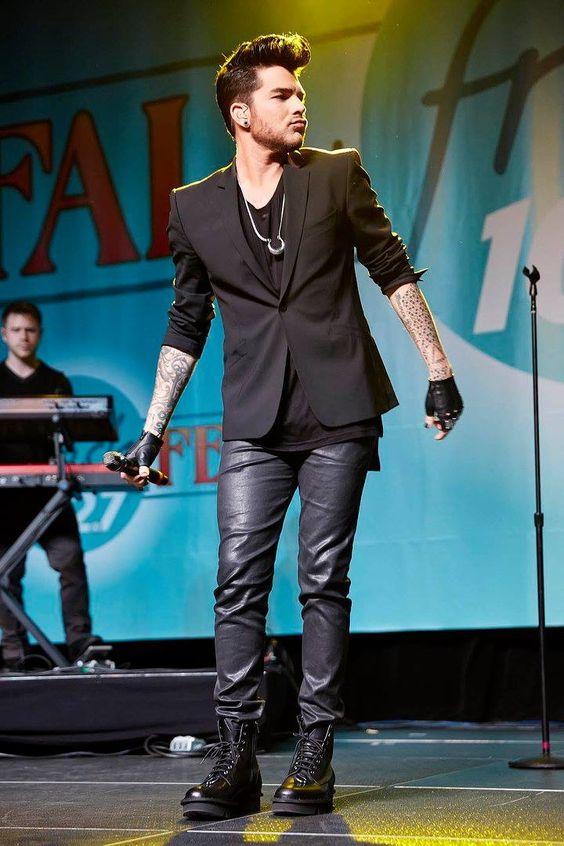 10/08/15 Adam Lambert performing at Fresh Fall Fest