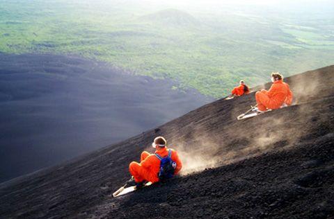 Volcanoboarding en el cerro negro