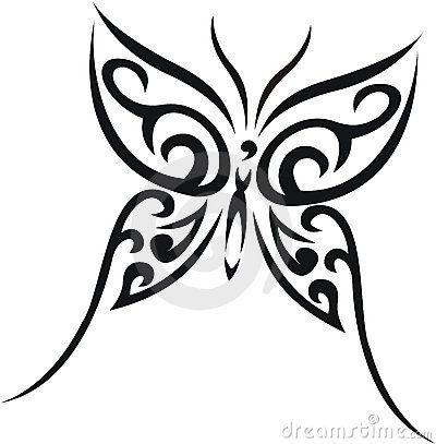 Inicio Gt Fotos De Archivo Tatuaje Tribal La Mariposa
