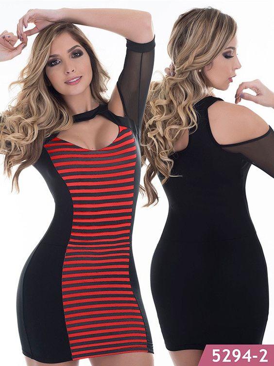 Vestido Moda Colombiana Thaxx Ref. 107 -5294-2 Rojo ONE SIZE
