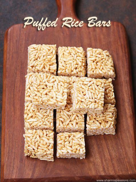 Peanut Butter Puffed Rice Bars Recipe Recipe Puffed Rice Rice Bar Rice Puff Recipes
