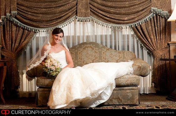 Great wedding pose at Westin Poinsett