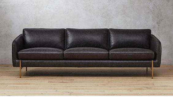 Hoxton Black Leather Sofa |