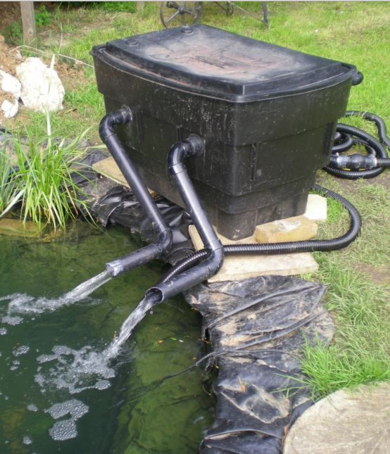 10 diy pond filter for easy cleaning of backyard pond for Simple koi pond