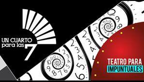 Un cuarto para las 7 en Casa Ensamble, de 8:15pm a 10:20pm. Funciones cada 15 Minutos. Un Cuarto para las 7, Teatro para impuntuales es una opción diferente, económica y rápida de ver teatro. Pero además es única, original y nueva. #teatro #bogotá #colombia #look4plan #look4show #armatuplan
