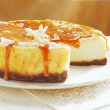 Fresh Ginger Cheesecake -A gingersnap crust, ginger-spiced filling ...