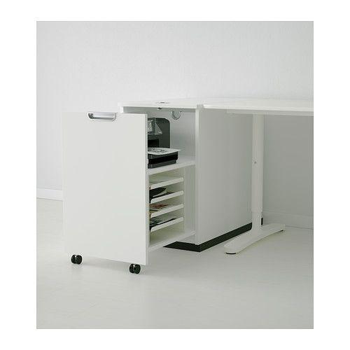 GALANT Módulo almacenaje p/impresora - blanco - IKEA. MGC: la idea sería esta pero no este que tiene 45 de ancho y la impresora necesita mínimo 46/47