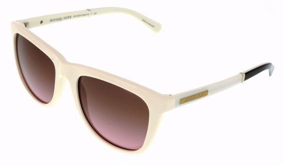 Michael Kors M6009 ALGARVE 301214 Oak White Wayfarer Sunglasses