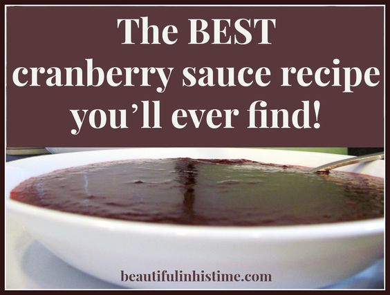 The BEST cranberry sauce recipe you'll ever find! -