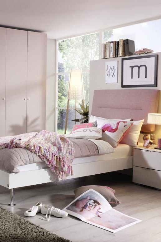 Rose Rosa Pastell Pastellfarben Bett Betten Schlafzimmer