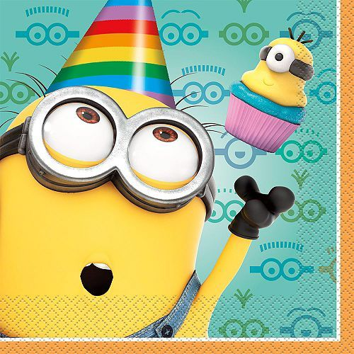 Despicable Me Lunch Napkins   All Parties Decorations & Supplies for your Party