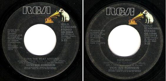 """Vicki Sue Robinson / Turn the Beat Around (1976) / RCA GB-10944 (Single, 7"""")…"""