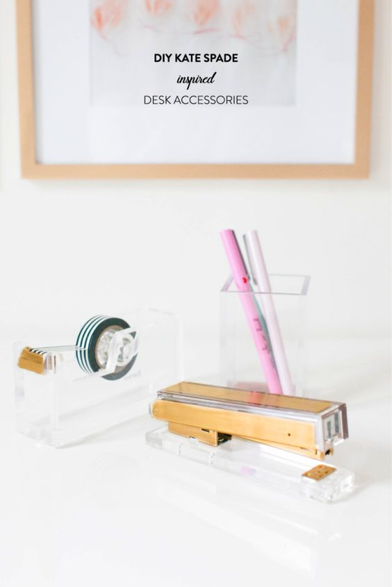 gold desk accessories DIY