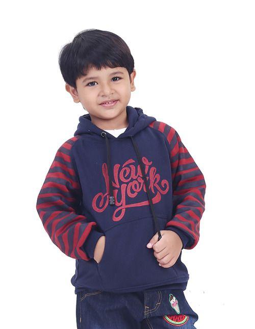 Sweater Anak Laki Laki T 2584 Fleece Biru Kombinasi 10 8