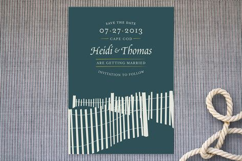 Beachside Save the Date Cards by Peaceable Designs at minted.com #PerfectWedding