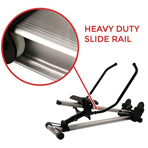 Sunny Health and Fitness Full Motion Rowing Machine Rower with 350lb Capacity an